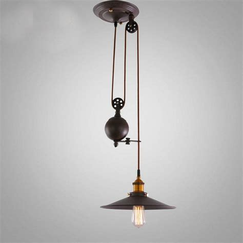 Refurbished Light Fixtures Pulley Light Fixtures Loft Vintage Pendant Lights Iron Industrial Pulley L Bar Kitchen Home