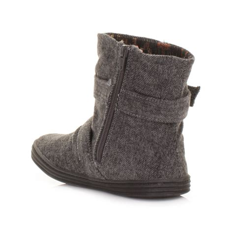 womens blowfish ranuku herringbone gray flat casual