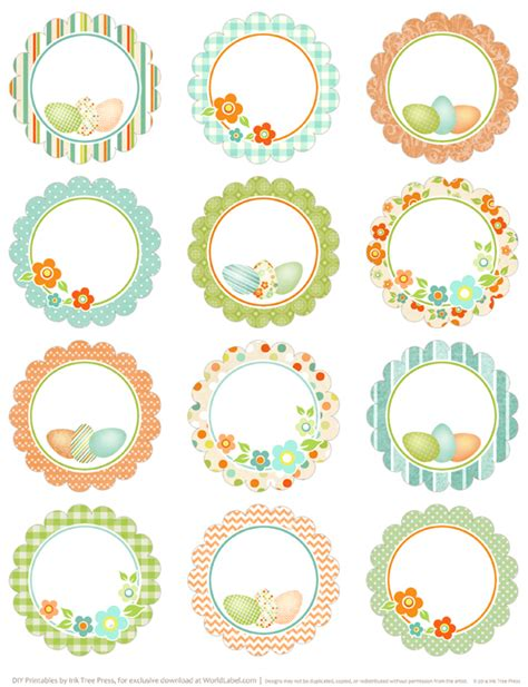 Spring Has Sprung Easter Printable Labels Worldlabel Blog Circle Sticker Labels Template