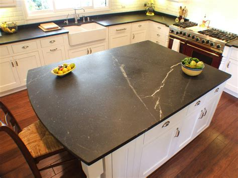 soapstone countertop choosing kitchen countertops hgtv