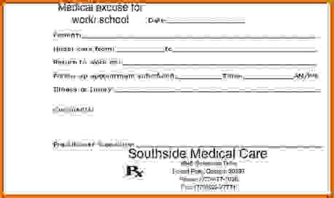 doctor s note template download blanks and print