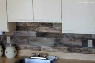 Diy Kitchen Backsplash by Cheap Diy Rustic Kitchen Backsplash Shelterness