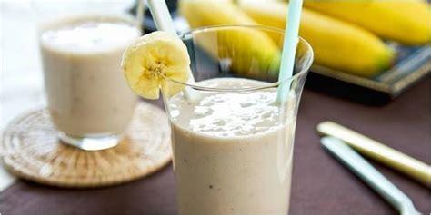 resep smoothies buah pisang almond sehat  mudah