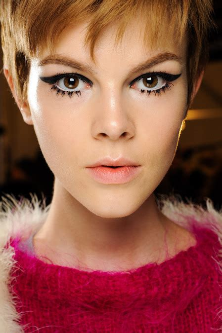 Eyeliner Sui backstage makeup looks from fashion week trends for fall 2013 fashion tag
