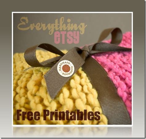 Sell Handmade Items Free - handmade label printables free downloads