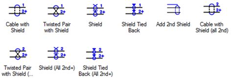 diagram twisted pair schematic symbol twisted pair color