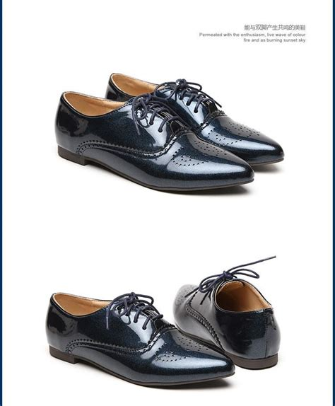 womens black patent leather oxford shoes white flat shoes lace up pointed toe black patent