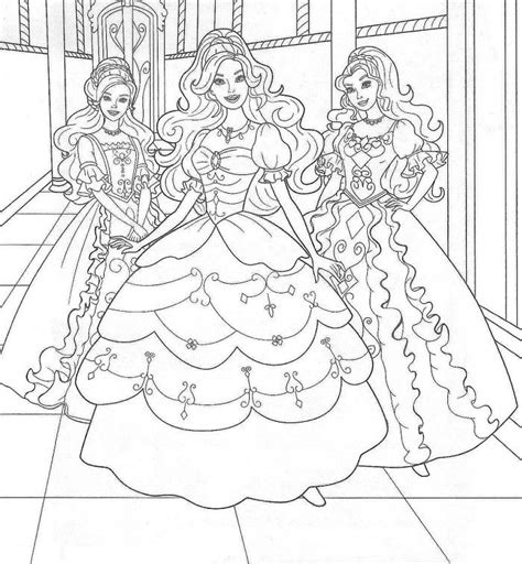 Barbie The Princess And The Pauper Az Coloring Pages Princess And The Popper Printable