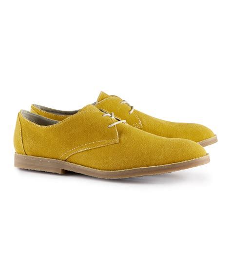 yellow shoes h m shoes in yellow for mustard lyst