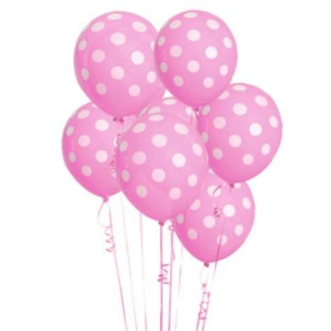 Balon Polkadot Balon Dot 6 pack pink polka dot balloons