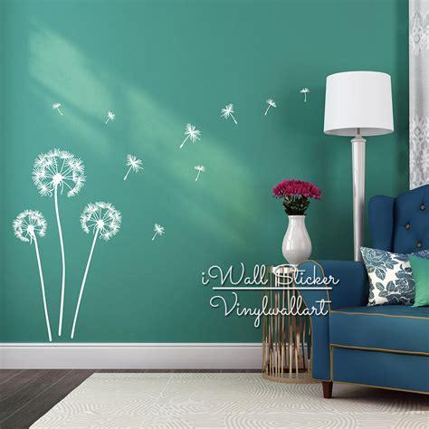 dandelion wall sticker dandelion flower wall decal diy