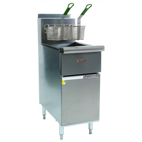 Kitchen Gear Standing by True Heat Csr42g Free Standing Basket Fryer