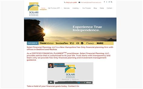 8 Financial Websites by Solari Financial Planning Website Xy Planning Network