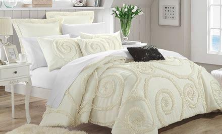 Set Kullot Rosalia T D rosalia 7 comforter set groupon goods