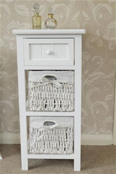 white wicker bathroom cabinet white side cabinet bedside storage unit table basket