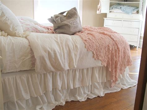 ruffle queen comforter shabby chic queen bed shabby chic bedding romantic