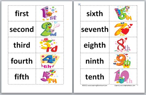 printable ordinal numbers list chinese new year ordinal worksheets search results