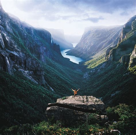 fjord newfoundland western brook pond fjord gros morne national park flickr