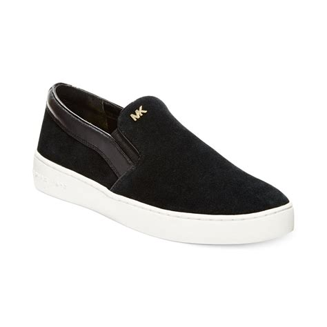 black michael kors sneakers michael kors michael keaton slip on sneakers in black