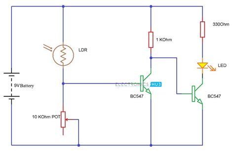 bc547 transistor output light detector using ldr