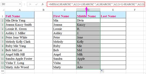 format excel last name first name how to split full name to first and last name in excel