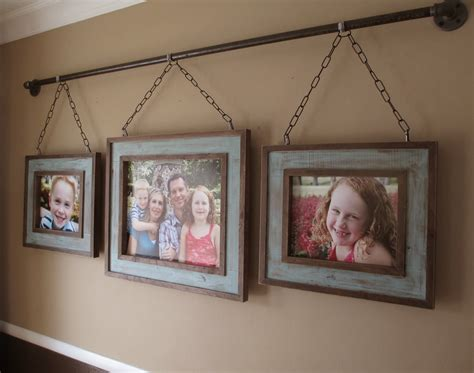 how to hang frames kruse s workshop iron pipe family photo display