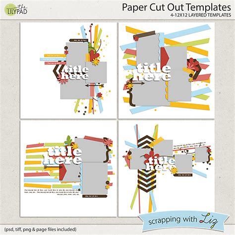 paper cut out templates digital scrapbook templates paper cut out scrapping