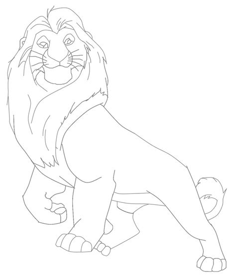 Mufasa Lion King Character Coloring Page Mufasa Coloring Pages