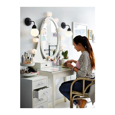 how to dress a table hemnes dressing table with mirror white 100x50 cm ikea