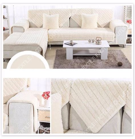 long sofa cover long fur sofa cover plush slipcovers winter canape for