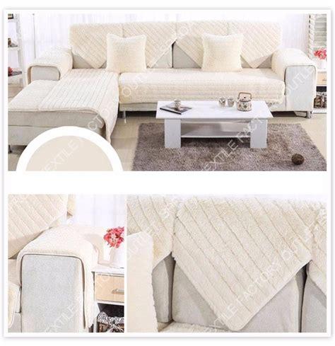long sofa cover long fur sofa cover plush slipcovers winter canape for