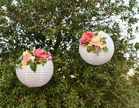 DIY Flower Paper Lanterns Tutorial   Make Life Lovely