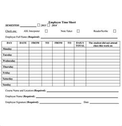 free timesheets templates employee timesheet sle 11 documents in word excel pdf