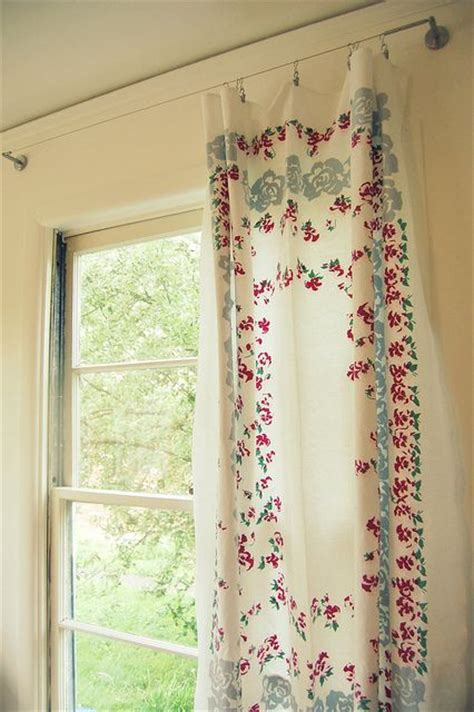 vintage tablecloth curtains vintage tablecloth as curtain i m so doing this that