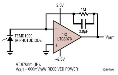 photodiode receiver circuit solutions micropower photodiode lifier