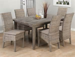 Grey Wood Kitchen Table Weathered Driftwood Grey Dining Table Banana Leaf Parsons Chairs Reclaimed Wood Distressed Wood