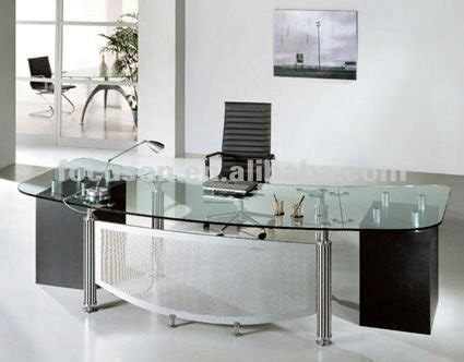 fks hd ed024 modern glass top office desk buy glass top