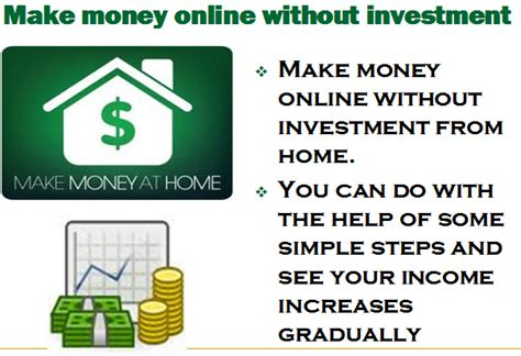 Make Money Online With No Investment - make money online without investment september 2011
