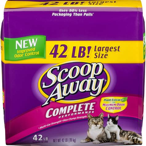 cat litter scoop away complete performance scented scoopable cat litter 42 lb bag chewy
