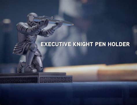 executive knight pen holder thinkgeek executive knight pen holder 187 gadget flow