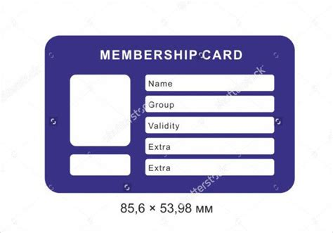 membership card template doc membership card template 28 images membership card