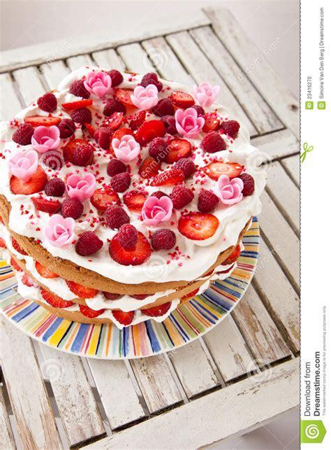 colorful birthday cake stock photo image