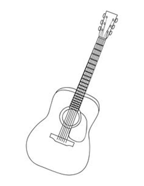 acoustic guitar coloring page electric guitar embroidery design instant download