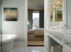 Blue Bathroom Paint Ideas Spa Like Ensuite Bathroom With Soft Blue Gray Walls Paint Color Freestanding Tub Marble