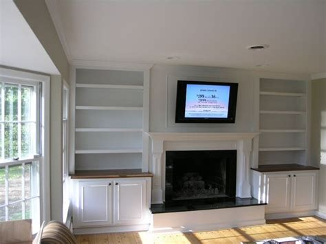 Built In Bookcase Fireplace by Best 25 Shelves Around Fireplace Ideas On