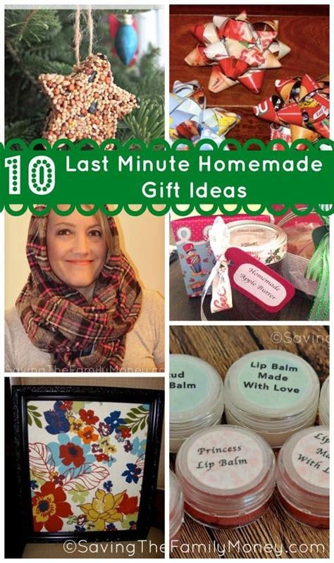 Last Minute Handmade Gifts - 10 last minute gift ideas