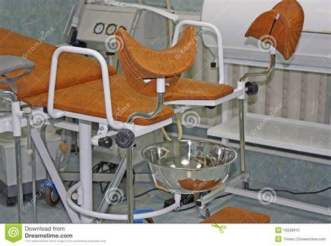 sedia ginecologica strumentazione ginecologica fotografia stock immagine