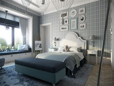 stylish bedroom wallpaper calming modern interiors