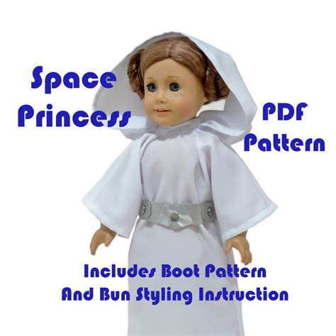 dress pattern princess leia space princess american girl doll clothes pattern 18 inch