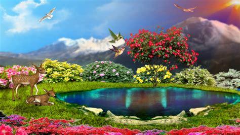 Home Landscape Design Software For Mac Simplywallpapers Com Spring Love Deer Lake Flowers